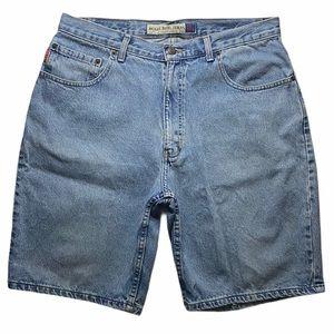 Vintage Bugle Boy Denim Shorts Size 32x10